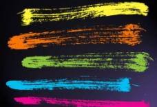 炫彩的水墨涂抹效果PS笔刷图片