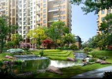 小区内绿化景观图片