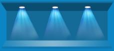 蓝色背景灯光