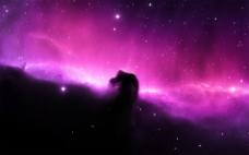 紫色星空背景图片