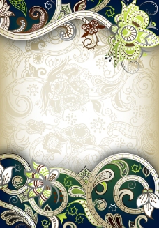 古典花纹背景