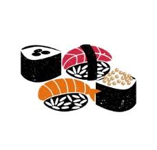 美味日本寿司矢量图