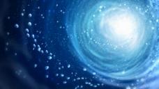 蓝色光效粒子视频素材