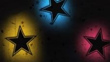彩色五角星视频素材