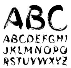 书法 英文 字母  ABCD图片