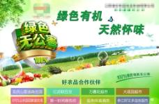 绿色有机无公害食品海报图片