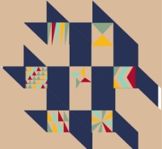 几何 图案 分层图片