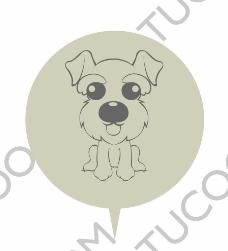 矢量狗图案迷你雪纳瑞图片