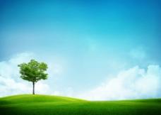 蓝色天空背景图图片