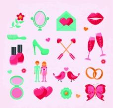 清新婚礼标志图片