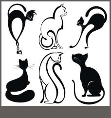 时尚线性猫咪
