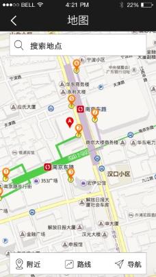 手机移动端APP界面设计酒店预定系统地图
