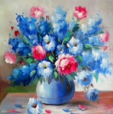 油画花瓶图片