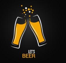 啤酒碰杯素材