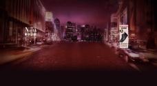 城市夜景背景模板
