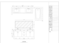雙臺盆 衛浴柜 浴缸圖片