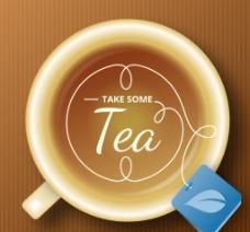 矢量茶杯图片