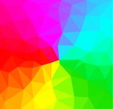彩虹色多边形底纹图片