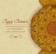 金色富贵花纹图片