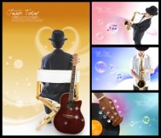 音乐素材背景素材PSD文件免费下载