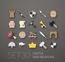 矢量古代军事武器图片