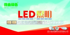 led照明海报 led灯泡海报
