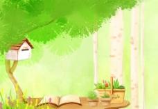 可爱卡通背景图片