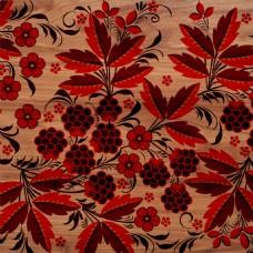 红叶植物与木板背景高清摄影图片