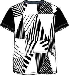 男式春夏T恤背面