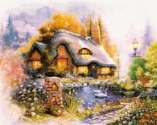 托马斯林间小屋乡村风格油画篇