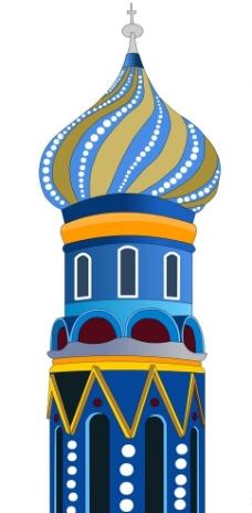 原创俄罗斯风格卡通城堡图片