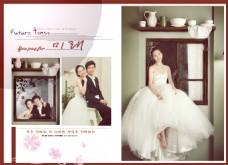 韩式幸福 跨页婚纱模板  PSD模板
