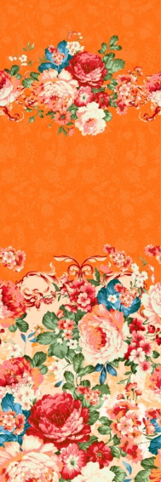 PS绚丽花朵植物花纹背景