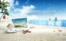 唯美浪漫海滩风景