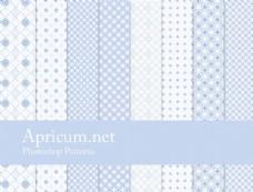 蓝色像素格子背景填充图案