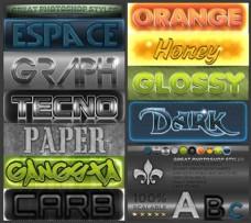 金属质感立体字字体样式