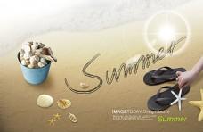 贝壳艺术品海报背景