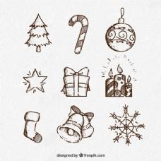 粗略的收集圣诞元素