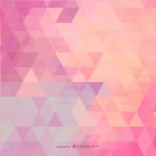 粉红色的多边形背景