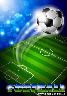 精美动感足球背景矢量素材图片