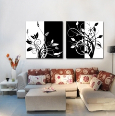客厅艺术抽象装饰画