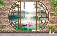江南3D客厅电视背景墙