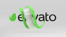 优雅简洁条纹环绕logo标志AE模板