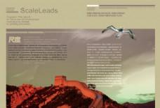 简约大气企业画册版面设计psd素材下载