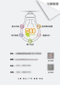 简洁图标电子科技业务广告设计