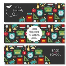 创意校园banner矢量素材图片