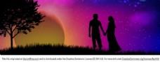 夜空里的浪漫爱情