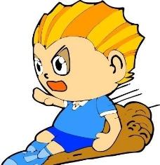 漫画儿童 卡通人物 矢量 CDR_0105