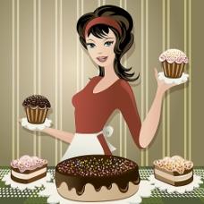 做甜点的女人