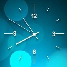 蓝壁时钟背景